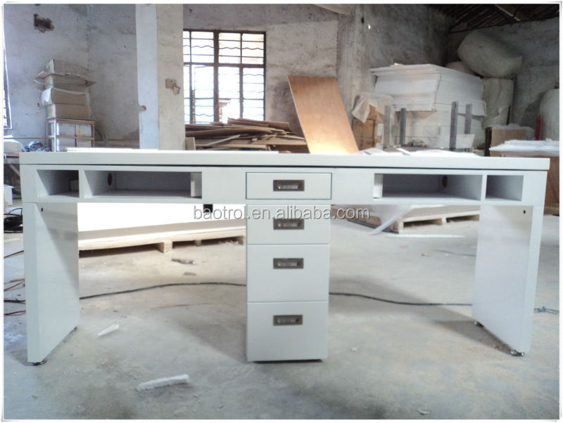 Approval Factory Nail Salon Furniture White Nail Manicure Table Nail ...
