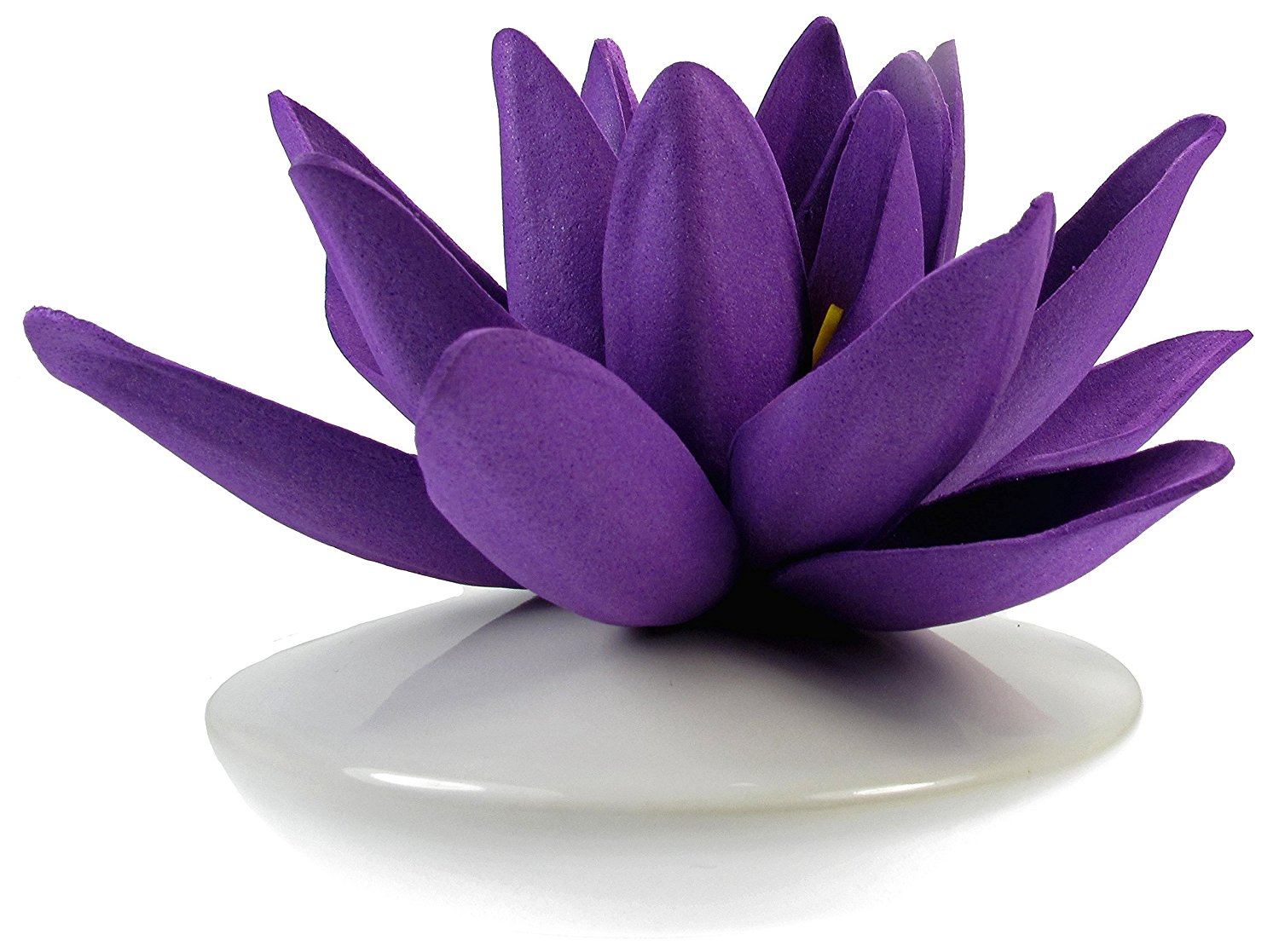 Cheap lily flower bud find lily flower bud deals on line at alibaba get quotations artificial water lily foam flower with a white ceramic bud vase purple izmirmasajfo