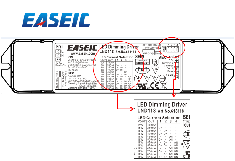 Lnd127 27w Easeic Brand Dali Dimmable Led Driver Led Power Supply ...