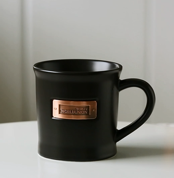 Factory matte customized size coffee mug with logo printing