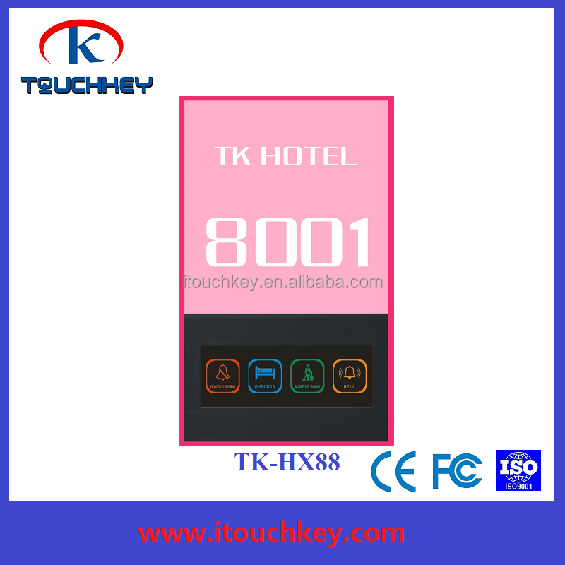 Hotel wireless wifi touch switch with room number sign and Make Up Room