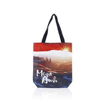 Ginzeal Wholesale Full Color Printing Gift Organic Cotton Tote  Bag