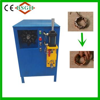 Mr w electric motor stator recycling machinery for copper for Electric motor recycling machine