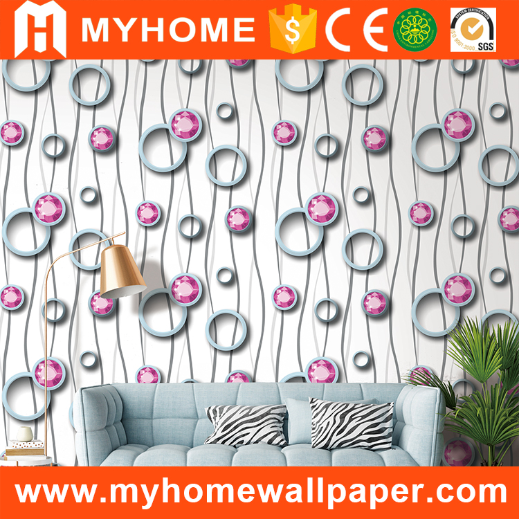 Modern Cheap Wholesale PVC High Quality china decorative 3D wall paper