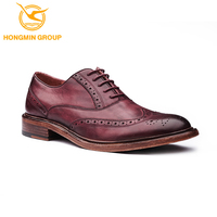 High classt oem brand mens cow skin shoe fashion lace up oxford most comfortable men leather casual shoes