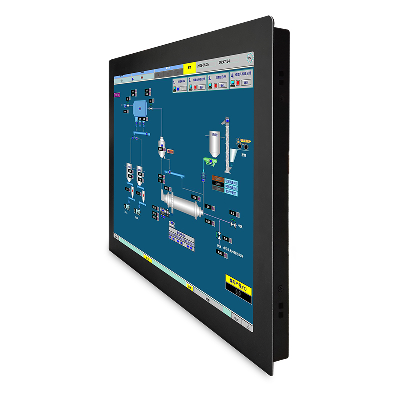 "12""15""17""19"" lcd touch screen <strong>monitor</strong>/industrial all in one with resolution 1024 X 768 embedded"