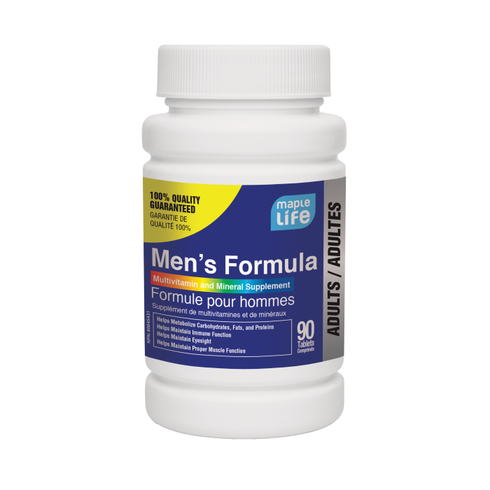 ingredientes multivitamínicos para hombres centrum