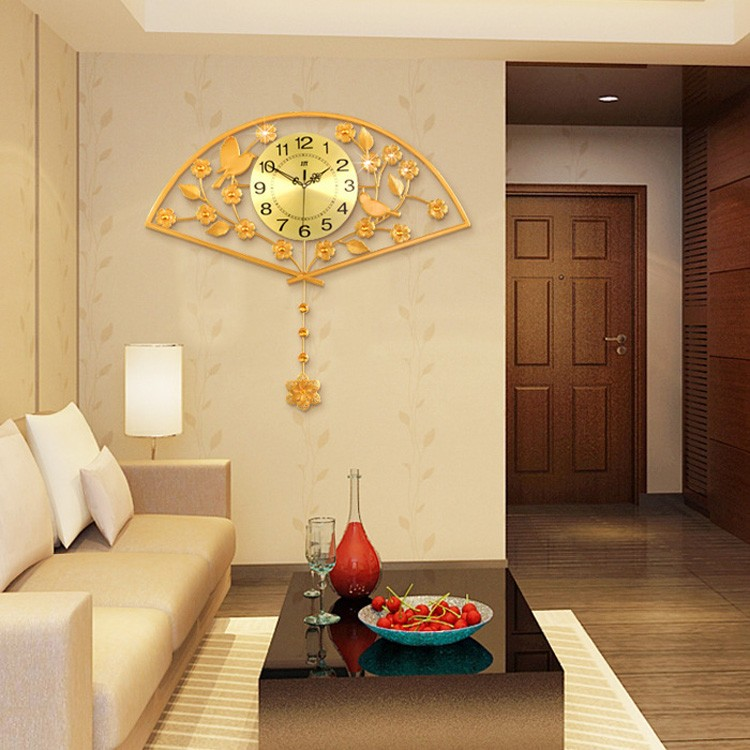 Modern High Quality Magnificent Luxurious Golden Fan Shaped Large ...