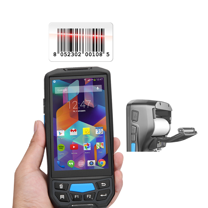 Android barcodelezer qr code thermische printer 58mm met rfid kaartlezer handheld apparaat Bluetooth WiFi