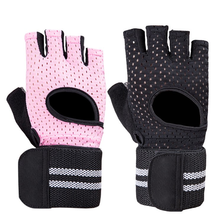 Low price comfortable breathable slip resistant custom logo weight lifting workout gym gloves