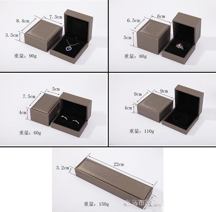 MN015-1  New Arrival PU leather  Grey flannel pendant  jewelry box  for bracelet ,necklace
