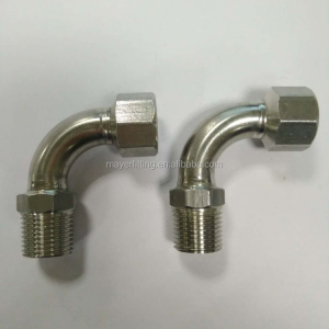 Stainless Press Fitting Female/Male threaded 90deg Bend