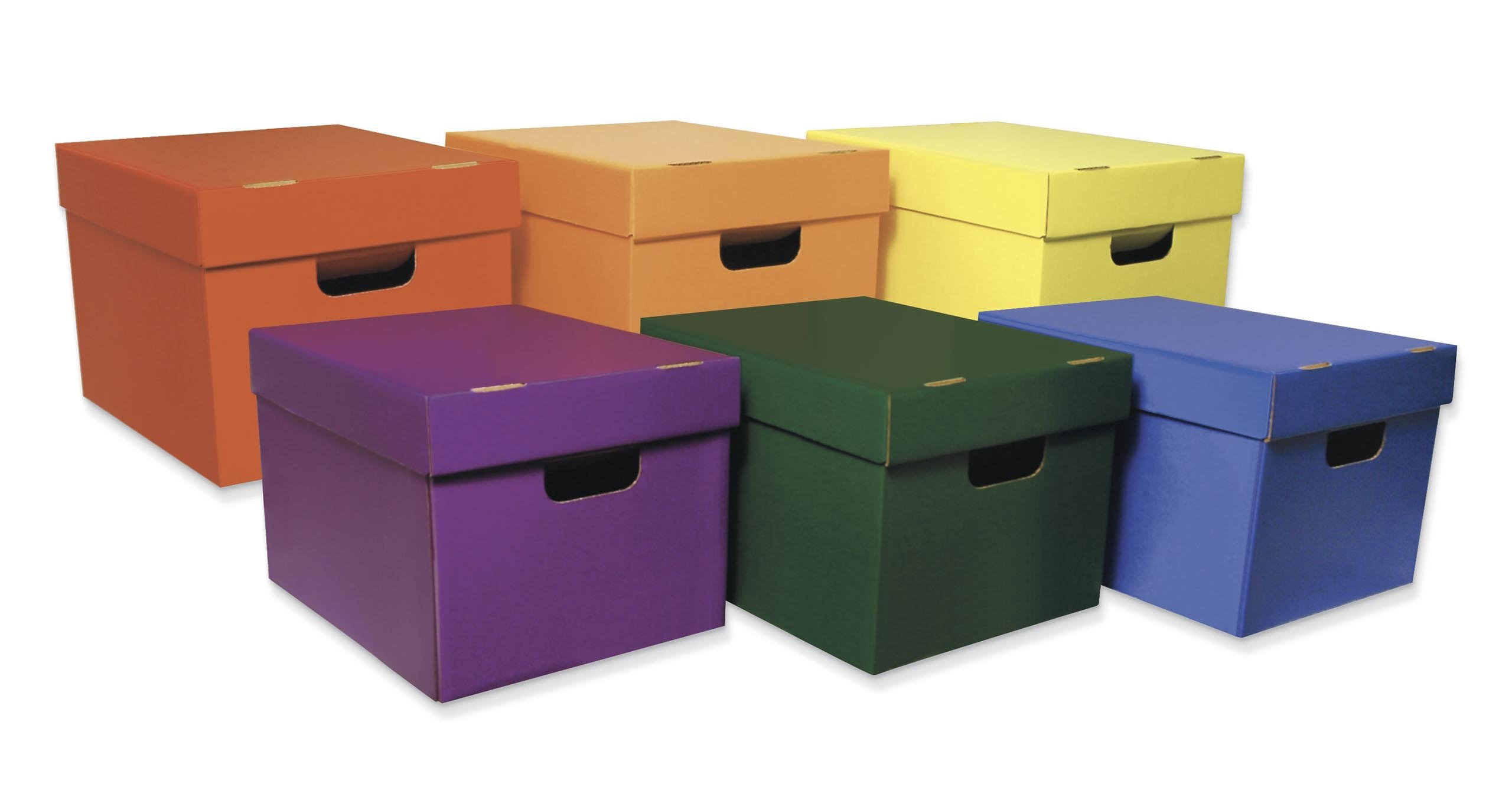 "Classroom Keepers Storage Totes, 6 Assorted Colors, 10-1/8""H x 12-1/4""W x 15-1/4""D, 6 Pieces"