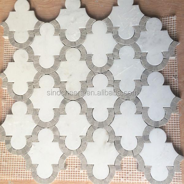 Naturliche Stein Mosaik Muster Wasserstrahl Marmor Design Boden