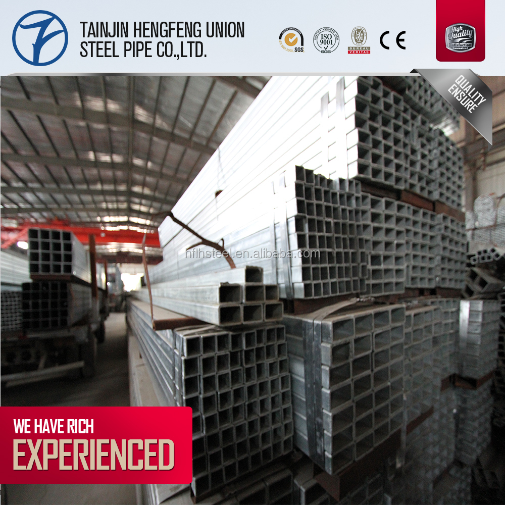 galvanized square steel pipe from Daqiuzhuang,Jinghai County