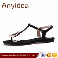 2016 China Best selling wholesales women fashion fancy flat sandals with