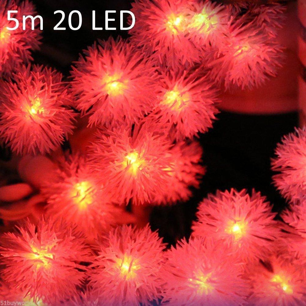 Christmas Props Decors Lamp 5m 20 LEDs Solar String Light ???????????? ???????? ~ITEM #GH8 3H-J3/G8335692