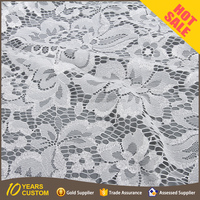 S2383 Reasonable price Beautiful nylon white tulle lace fabric dubai