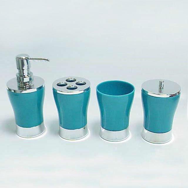 classique design clair acrylique vase forme bleu salle de bains accessoires ensemble lots de. Black Bedroom Furniture Sets. Home Design Ideas