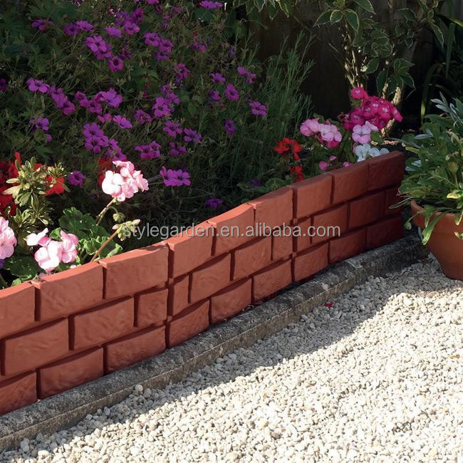 Brick Effect Plastic Lawn and Garden Edging