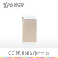 Custom Logo Li-Polymer Battery Lightning Cable one port Ultra Light Gold cell phone universal Charger Battery with Type C