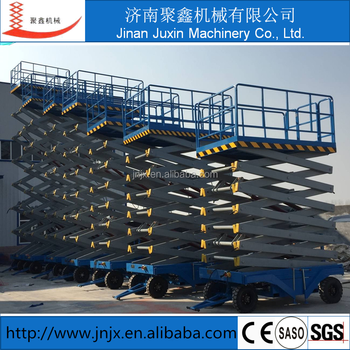 Hydraulic scissor lift one man lift factory used man lift
