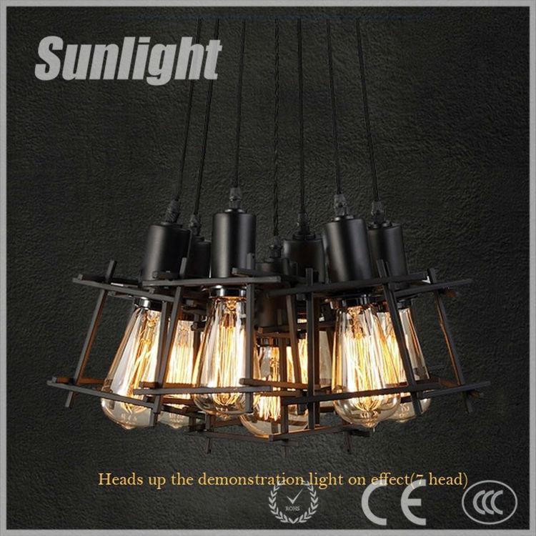 Modern Hanging Square Metal Frame Pendant Lamp/light