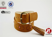 2017 New Fashion Urban Bohemian Belt Factory Quality Leather Waist Belt With Women