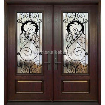 Indian Door Designs Double Doors Exterior Wrought Iron Door Grill
