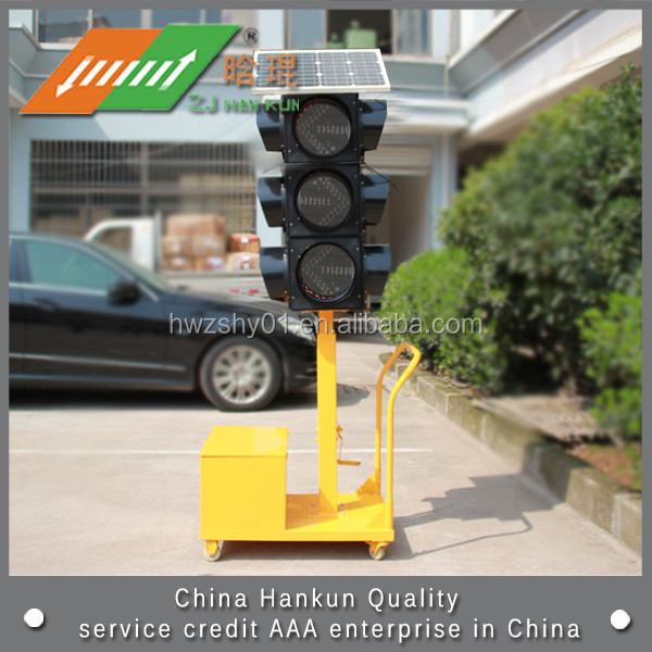 Factory Supply LED Flashing Solar Traffic Signal Light