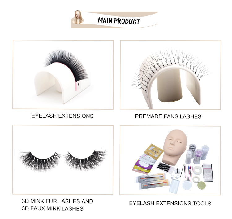 Mink eyelah extension private label eyelash extension custom eyelash packaging