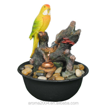 Indoor Tabletop Water Fountain Resin Birds Ornaments - Buy Birds ...