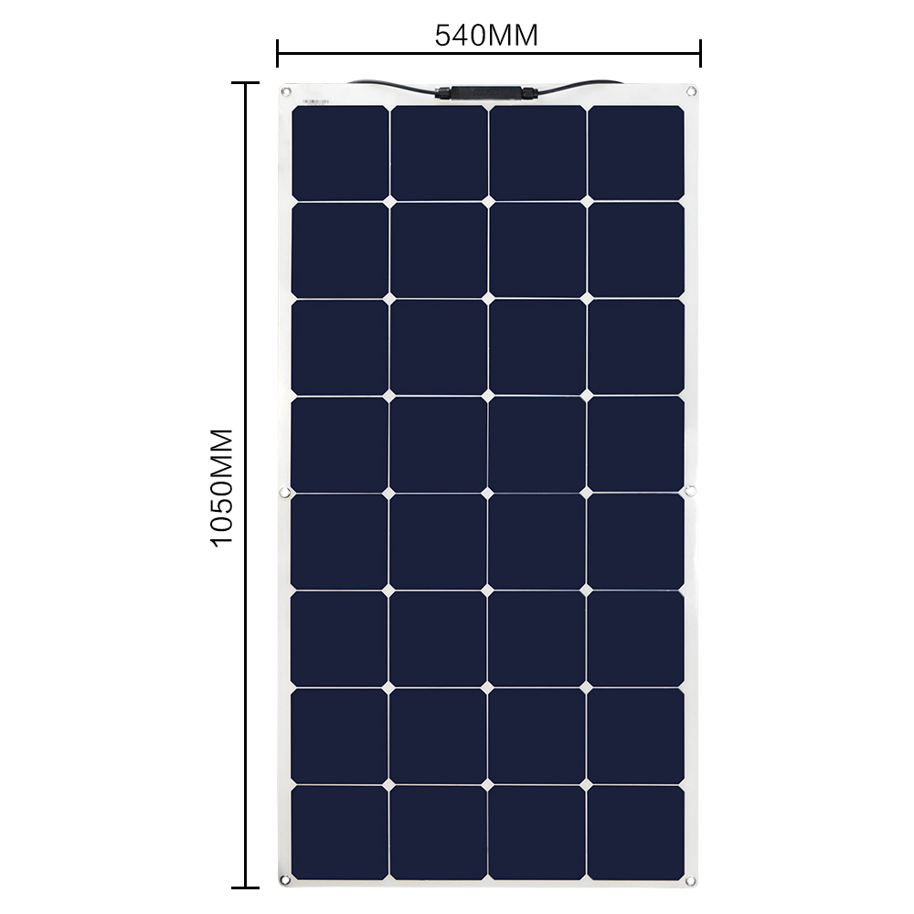 China Shenzhen Fabrik Direktverkauf 100 Watt 12 V Marine Flexible Solar Panel