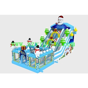Christmas Inflatable Snowman Castle Christmas Inflatable Bouncer Toys