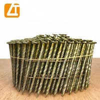 MANUFACTURER 15 degree 2 ''x.099'' pneumatic galvanized pallet roofing common coil nails for nail gun