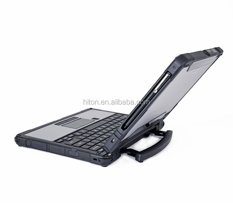 Factory 11.6inch 8G+128G Fully Rugged Tablet Laptop, Cheapest notebook computer with  Barcode Fingerprint Scanner