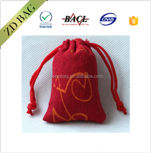 Top packing custom printed used lovely drawstring jute bags for sale