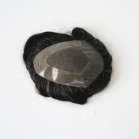 100% Indian hair pu front,mono top,npu side and back 1b20 color 5 inch long toupee gray hair mens toupee