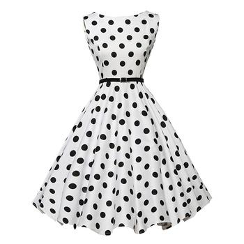 Women Summer Dress Polka Dot Retro Vintage 50s 60s Casual Party Office Robe  Rockabilly Dresses Plus Size Vestidos Mujer - Buy Plus Size Party ...
