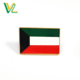 Custom design professional Zinc Alloy Kuwait Country Flags for shop soft enamel button pins