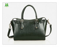 The latest fashion genuine leather green women popular bag