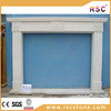 Building materials white marble fireplace hearth slabs