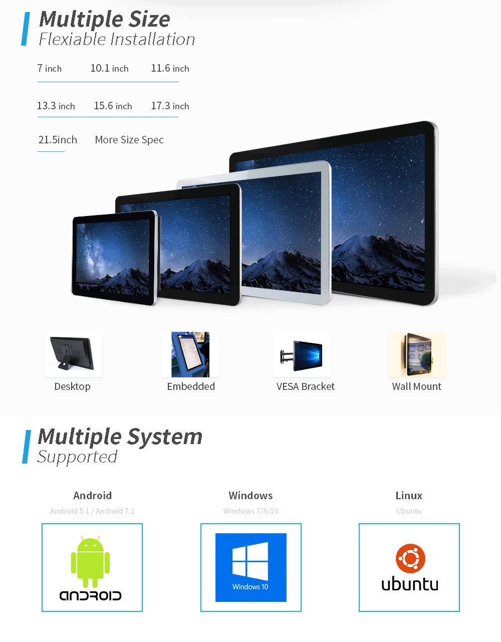 """22 """"Lcd Rugged Màn Hình Cảm Ứng Tablet + Pc Lte Với Android 7"""