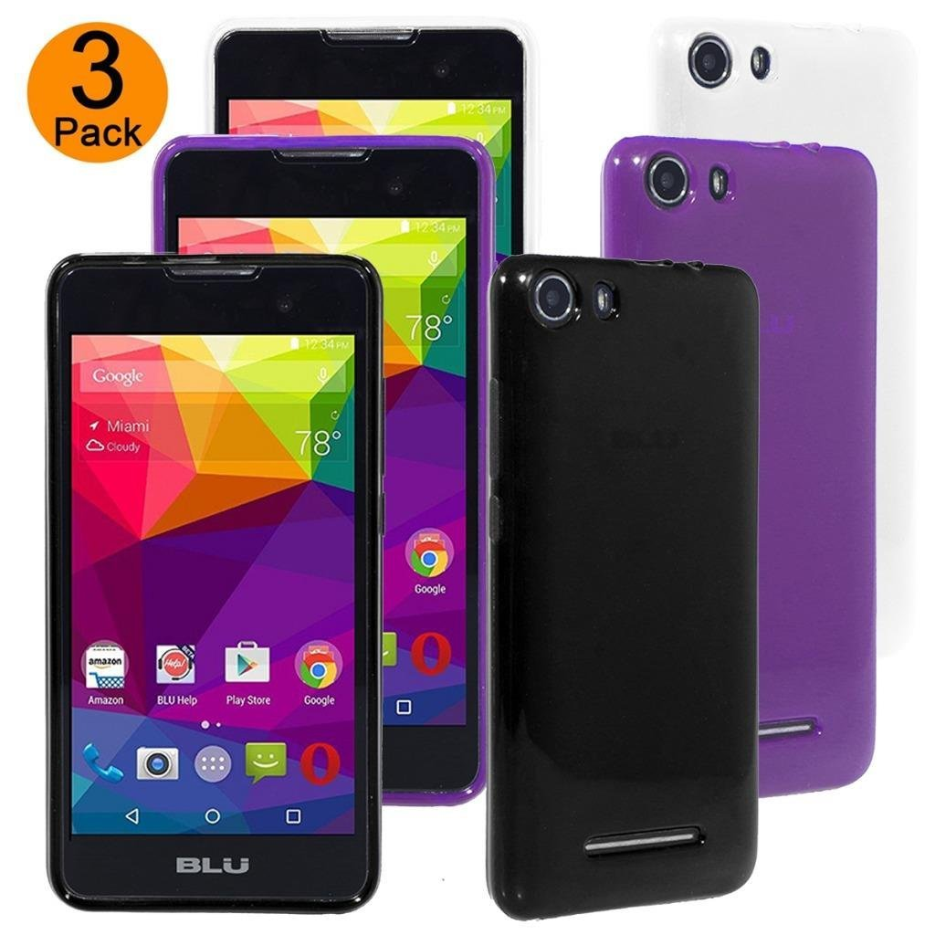 sale retailer 26d51 3a604 Buy BLU Advance 5.0 Case, BLU Dash M Case, [3 Pack] Teayoha [Black ...
