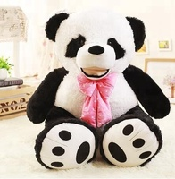 free sample custom stuffed panda toy for zoo / soft plush sitting mini giant panda toys for baby kids gifts