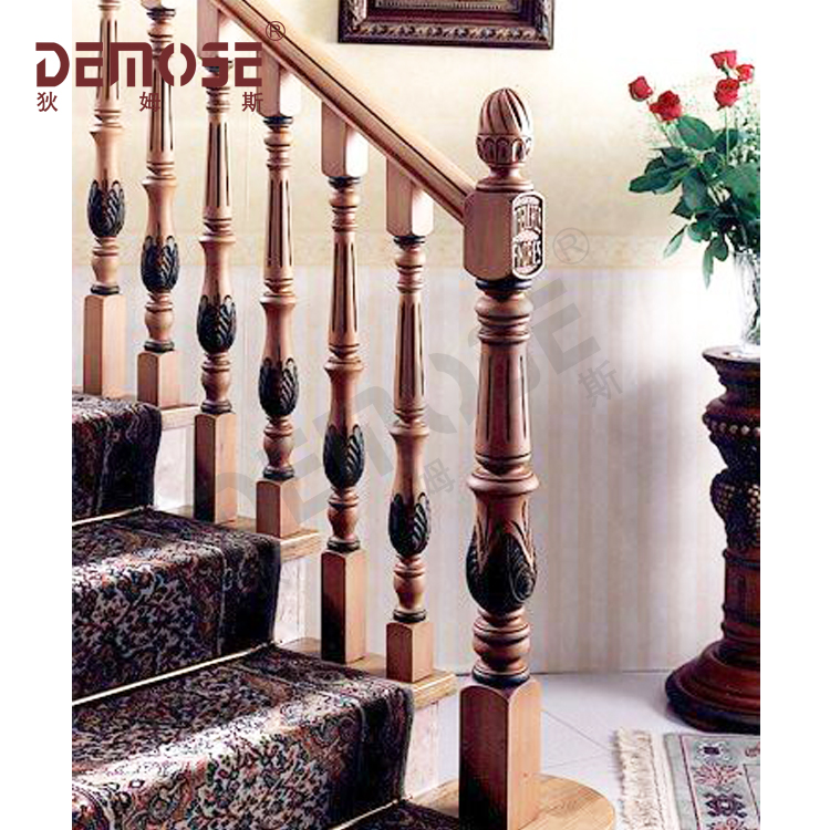 Solid wood handrail/balustrade/fence for stairs