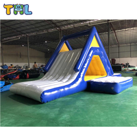 Custom Adult Inflatable Floating Water Slides on Water
