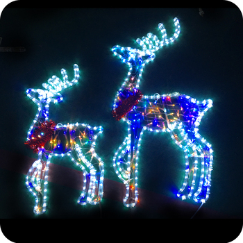 moving christmas lights outdoor christmas reindeer