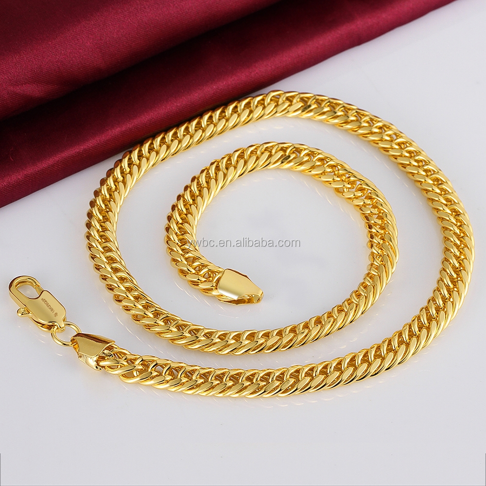 Copper Alloy 18k Yellow Gold Plated Thick Cut Hip Hop Miami Curb