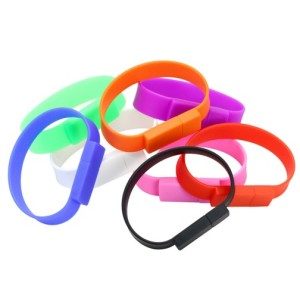 2018 Bulk Cheaper Silicone 8GB USB Flash Drives 16GB Silicon USB Bracelet/Wristband USB DIsk shell